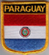 Paraguay Embroidered Flag Patch, style 07.